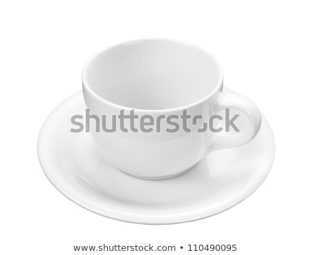 White Teacup with Clipping Path Stock photo © THP
