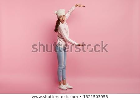 meglepődött · fiatal · női · fehér · arc · háttér - stock fotó © wavebreak_media