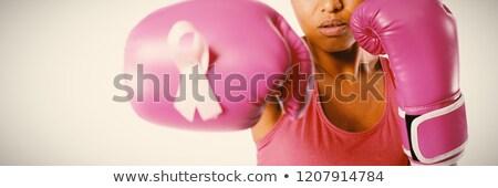 女性 ボクシンググローブ 白 スポーツ ボディ フィットネス ストックフォト © wavebreak_media