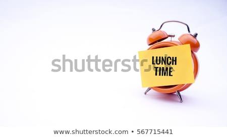 Czasu obiad lunchbox szkoły zegar dziewięć Zdjęcia stock © compuinfoto