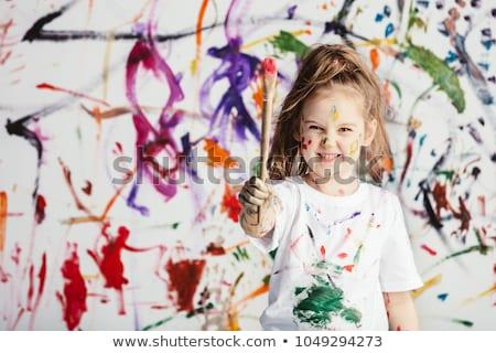 Művészi rendetlenség különböző tárgyak terv ceruza Stock fotó © idesign