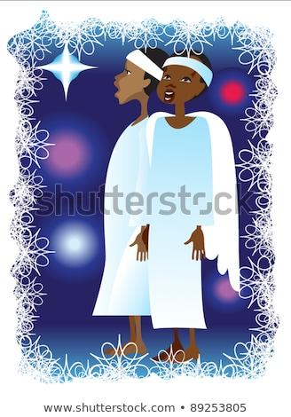 アフリカ 天使 歌 3dのレンダリング 子 ストックフォト © AlienCat