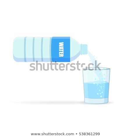 стекла воды отражение синий пить Сток-фото © Grazvydas