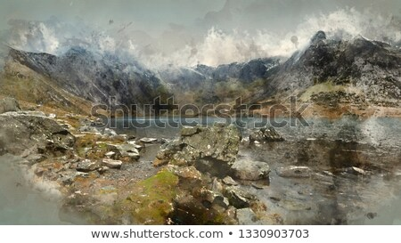 beautiful rugged landscape with clouds Stock photo © Hofmeester