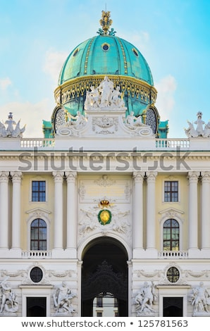 Sculpture in front of St. Michael's wing of Hofburg Palace in Vi Stock photo © AndreyKr