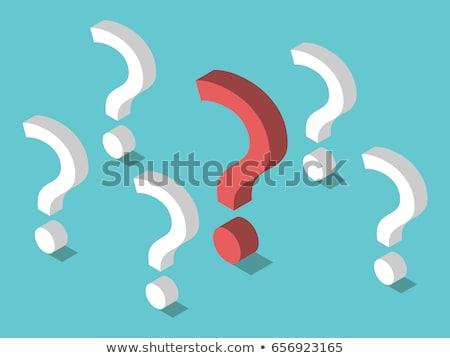 uno · rispondere · molti · domande · grande · punto · esclamativo - foto d'archivio © make