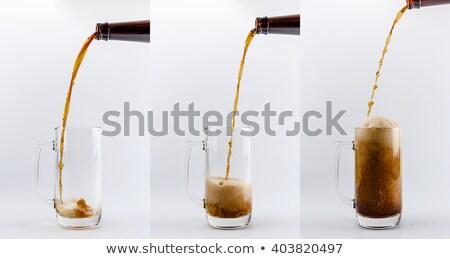Szkła pełny piwa piana biały Zdjęcia stock © wavebreak_media