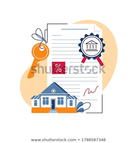 House Mortgage concept on business background stock photo © 4designersart