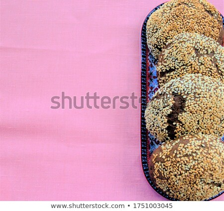 rye buns with a linen textile Stock photo © Rob_Stark