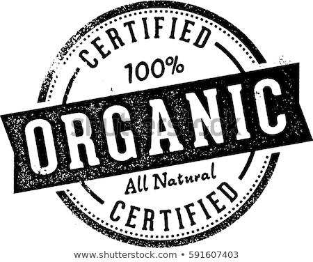 orgánico · sello · imagen · 100 · resumen · salud - foto stock © cteconsulting