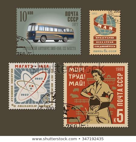industry in vintage post stamps Stock photo © PixelsAway