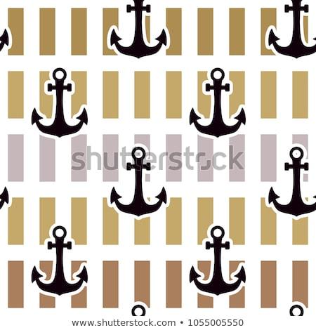古い アンカー グレー 水 海 デザイン ストックフォト © rufous
