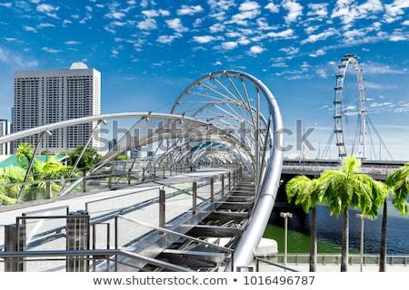 спираль моста Сингапур удвоится пешеход марина Сток-фото © joyr