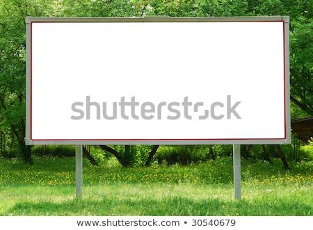 vazio · quadro · de · avisos · flores · grama · abstrato · vetor - foto stock © wad