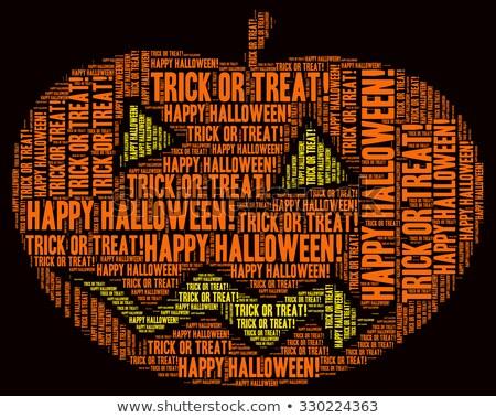 Halloween word cloud Stock photo © Refugeek