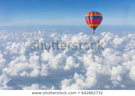 primer · plano · globo · de · aire · caliente · deporte · verano · rojo · caliente - foto stock © DonLand