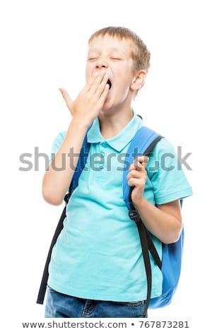 jonge · moe · jongen · Blauw - stockfoto © Freshdmedia