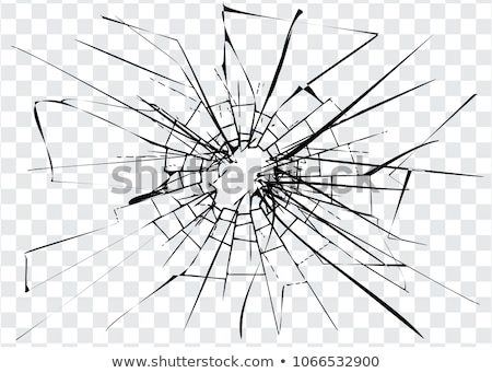 Bullet hole: broken or Shattered glass Stock photo © Arsgera