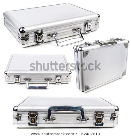 alumínium · biztonság · aktatáska · fém · izolált · fehér - stock fotó © elmiko