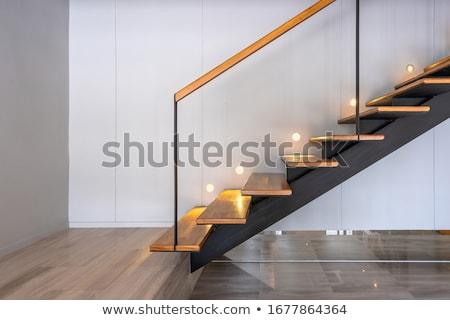 Lépcsőfeljáró fal háttér felirat utazás festmény Stock fotó © zzve