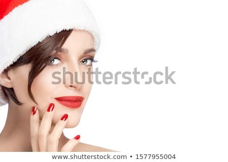 Moda beleza compensar correspondente lábios unhas Foto stock © tobkatrina