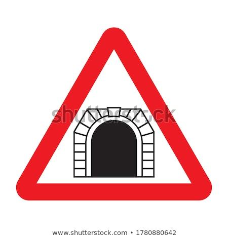 Közlekedési tábla alagút út fény utca felirat Stock fotó © Ustofre9