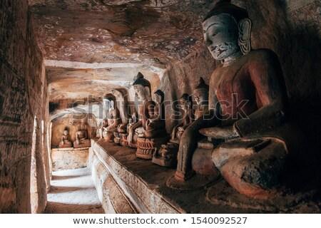 Pintura ganhar antigo budista caverna complexo Foto stock © mdfiles
