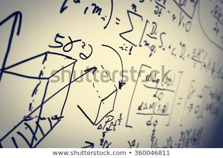 Handschriftlich Physik Hausaufgaben Diagramm Bleistift Briefpapier Stock foto © sirylok