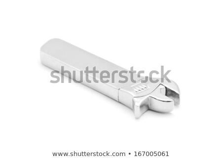 İngiliz anahtarı biçim çakmak beyaz oyuncak gümüş Stok fotoğraf © FOKA