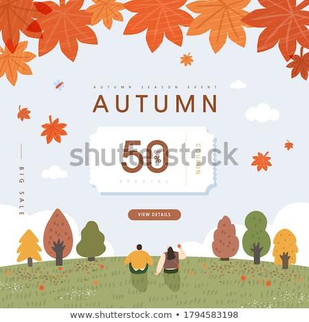 скидка оранжевый красный осень рынке Сток-фото © kariiika