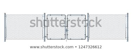 ferro · cancello · recinzione · chiuso · grande · bianco - foto d'archivio © meinzahn