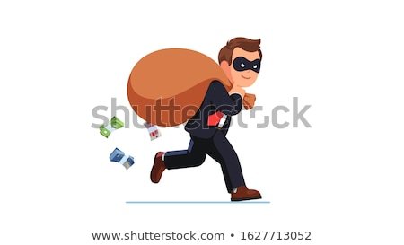 zakenman · crimineel · geld · man · masker · zak - stockfoto © elnur