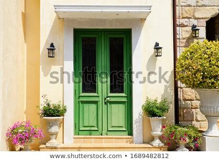 средневековых парадная дверь центра Рим Италия дома Сток-фото © alessandro0770