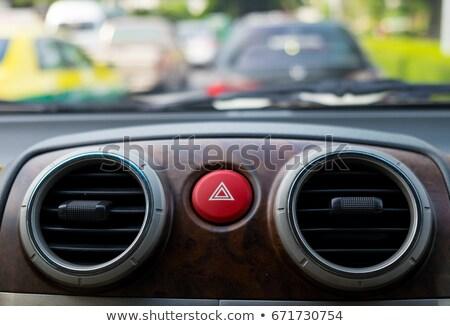 Szczegóły samochodu awaryjne przycisk klimatyzacja wentylacja Zdjęcia stock © vladacanon