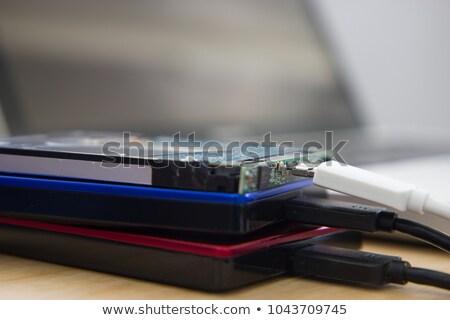 Computer hard disk falling Stock photo © stevanovicigor
