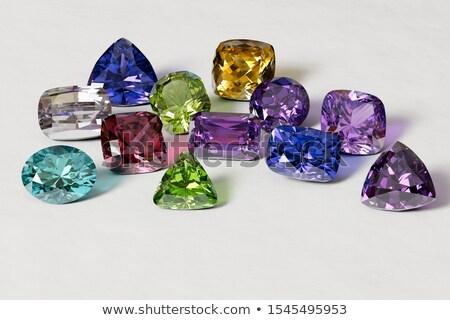 Kostbaar stenen vorm driehoek illustratie papier Stockfoto © yurkina