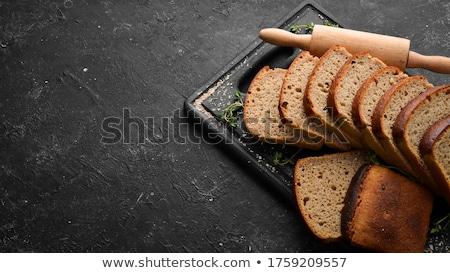 sliced loaf of bread stock photo © belyaevskiy