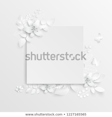 Beautiful abstract lilly frame Stock photo © Nejron