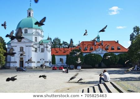 Kilise Varşova Polonya şehir mavi kentsel Stok fotoğraf © jakatics