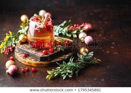 Christmas punch Stock photo © yelenayemchuk