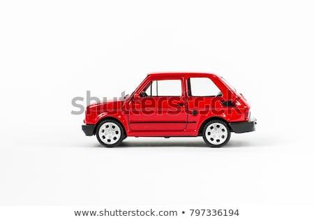 eski · oyuncak · araba · yalıtılmış · beyaz · kamyon - stok fotoğraf © gemenacom