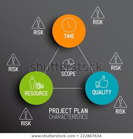Characteristics of Project Plans - diagram Stock photo © orson