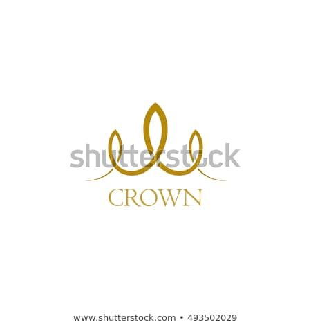 Twisted ribbon- abstract logo or design element in gold  Stock photo © shawlinmohd
