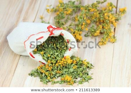 Sağlık yeşil tıp çay otlar sarı Stok fotoğraf © fisfra