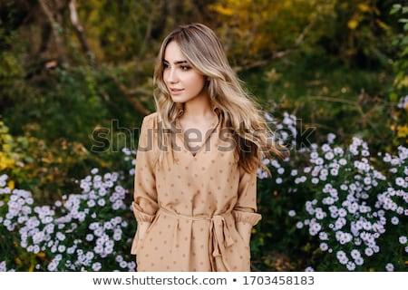 少女 風の強い 髪 孤立した 白 ビジネス ストックフォト © gemenacom