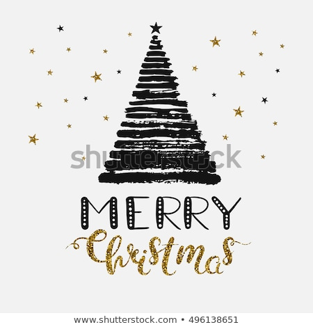 vector abstract christmas tree made from words stock photo © orson
