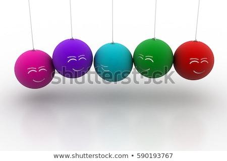 Supărat satisfacut emoticon 3d face Crăciun copaci Imagine de stoc © mariephoto