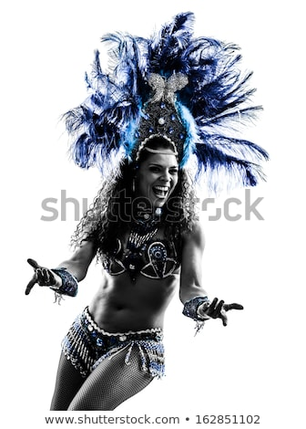 sexy · karnawałowe · tancerzy · taniec · odizolowany · biały - zdjęcia stock © hasloo