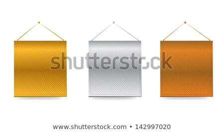 Gold, Silver, Bronze baners illustration design over white Stock photo © alexmillos