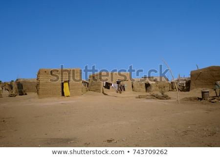 hut made of loam in Omdourman Stock photo © meinzahn